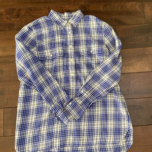 Madewell Plaid Popover Size Small